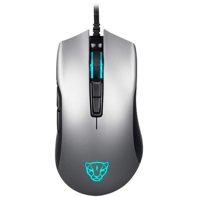 Mouse Gamer Motospeed V70, 7 Botões, RGB, 12000 DPI, Cinza - FMSMS0009CIZ