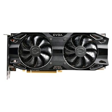 Placa de Vídeo EVGA NVIDIA GeForce RTX 2070 XC Black Edition Gaming 8GB, GDDR6 - 08G-P4-1171-KR