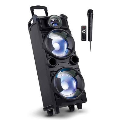 Caixa de Som Torre Multilaser Double 8, Bluetooth, LED, Microfone, 300W - SP282