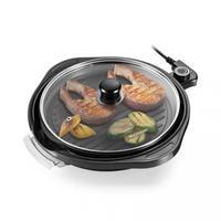 Panela Grill Gourmet com 1200W Grelha Antiaderente Temperatura Regulável e 30cm de Diâmetro Multilaser CE054 - 220V
