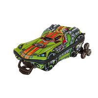 Mochila Escolar 3D Turbo Max carrinho verde com Lancheira MaxToy