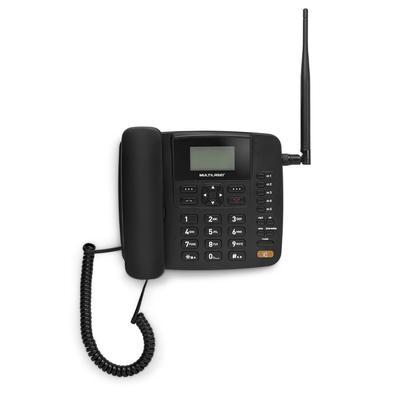 Celular Rural Fixo de Mesa Multilaser Quadriband 3G Preto - RE504