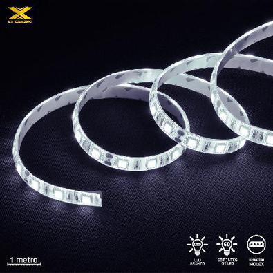 Fita De Led Vx Gaming Branco Com Conexão Molex 60 Pontos De Led 1 Metro - Lbm1