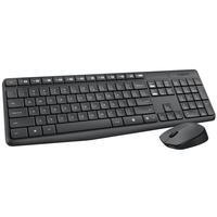 Kit Teclado e Mouse Wireless s/ Fio Logitech MK235 920-007903 Preto