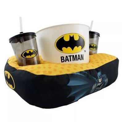 Kit almofada pipoca fibra Batman