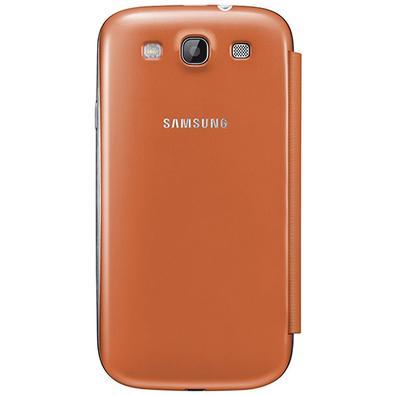 Capa p/ Samsung Galaxy S3 Samsung Flip Cover Laranja EFC-1G6FOECSTD