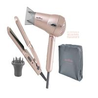 Kit Britânia Travel Rose Gold  - Secador + Prancha Bivolt