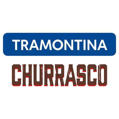 Kit para Churrasco Tramontina em Aço Inox com Cabo Vermelho Polywood Tramontina