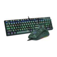 Kit Gamer Redragon Teclado Mecânico Gamer Rainbow ABNT2 Camuflado + Mouse Gamer S108 PT-LIGHT GREEN