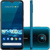 """Smartphone Nokia 5.3, 128GB, Tela 6,55"""", Quatro Câmeras com Inteligência Artificial, Verde Ciano - NK009"""