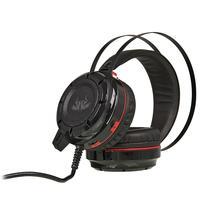 Headset Gamer 7.1 Knup, Com Microfone, Com Iluminação USB + P2 Bass Vibration, Vermelho e Preto  - KP-417