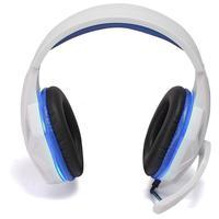 Headset Gamer Knup, Com Microfone, Com Iluminação, USB, PC, PS3, PS4, Xbox One Azul e Branco - KP-396