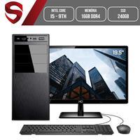 Computador Skill HomeJob Completo Intel Core i5 9ª Geração, 16GB, DDR4, Monitor 19.5´, SSD 240GB, GeForce GT, ASUS