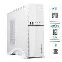 Computador Skill SlimPC Intel Celeron G4930 8ª Geração, 8GB, DDR4, HD 3TB, Intel UHD 610, HDMI, Full HD
