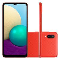 Smartphone Samsung Galaxy A02, 32GB, 13MP, Tela 6,5