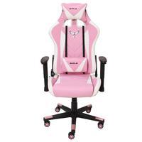 Cadeira Gamer Pro EagleX Giratória, Reclinável, Com Ajuste de Altura, Suporta até 120Kg, Rosa/Branco