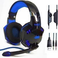 Headset Gamer Knup com Entrada USB e P2, Azul - Kp-455a