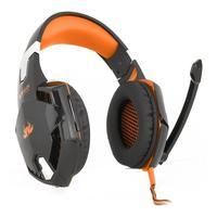 Headset Gamer com Microfone Knup, Laranja - Kp-455a