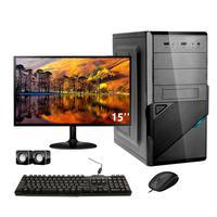 Computador Completo Corporate Asus 4° Gen I3 8gb 240gb Ssd Dvdrw Monitor 15