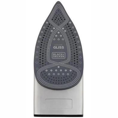 Ferro à Vapor Black+Decker Steam Power, Ceramic Gliss, 1200W, 110V, Preto/Verde - FX2700