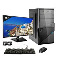 Computador Completo Icc Intel Core I5 4gb Hd 240gb Ssd Dvdrw Monitor 15 Windows 10