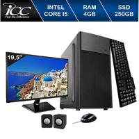 Computador ICC IV2540C2M19 Intel Core I5 3.20 ghz 4GB HD 250GB DVDRW Kit Multimídia Monitor LED 19,5 HDMI FULLHD