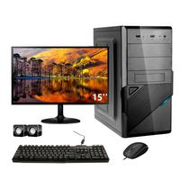 Computador Completo Corporate Asus 4° Gen I3 8gb Hd 3 Tb Monitor 15