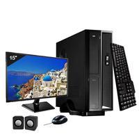 Mini Computador ICC SL2343Km15 Intel Core I3 4gb HD 2TB Kit Multimídia Monitor 15 Windows 10