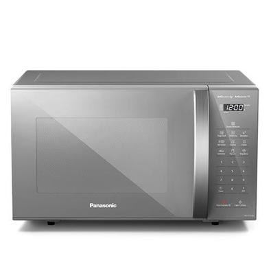 Micro-ondas De Mesa Panasonic Com 27 Litros De Capacidade Prata - Nn-st55lmrun - 110v