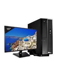 Mini Computador ICC SL2383Dm15 Intel Core I3 8gb HD 2TB DVDRW Monitor 15
