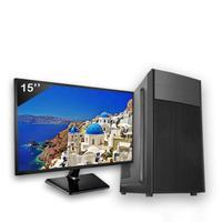 Computador Completo Icc Intel Core I3 8gb Hd 240gb Ssd Dvdrw Monitor 15