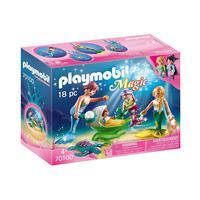 Playmobil, Família Com Bebê No Carrinho Concha