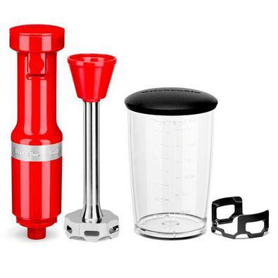 Mixer De Mão Kitchenaid Empire Red Com Velocidade Variável, Capacidade De 0,7 Litros - Keb53avana - 220v