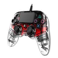 Controle Nacon Wired Illuminated Compact Controller Red (com Fio, Iluminado, Vermelho) - Ps4 E Pc