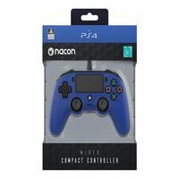 Controle Nacon Wired Compact Controller Blue (com Fio, Azul) - Ps4 E Pc
