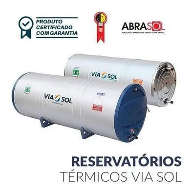 Aquecedor Solar Via Sol Reservatório 200l Chuveiro Torneira