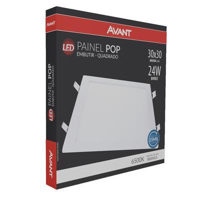 Painel Led Avant Embutir Quadrado 30cm 6500k 24w Branco