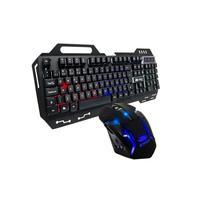 Kit com Teclado e Mouse Gamer com Iluminação Led RGB, Preto - Kp-2054