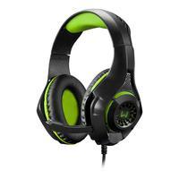 Headset Gamer Warrior Rama P3+USB Stereo Adaptador P2 LED Verde p/ Xbox One, PS4 e PC - PH299