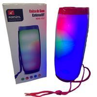 Caixa De Som Bluetooth Portátil Com Led Xtrad Entrada USB Xdg-157 Vermelha