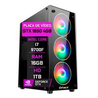 Pc Gamer Fácil, Intel Core I7 9700f, 16gb, Geforce Gtx 1650, 4gb Ddr4, Hd 1tb, Fonte 500w