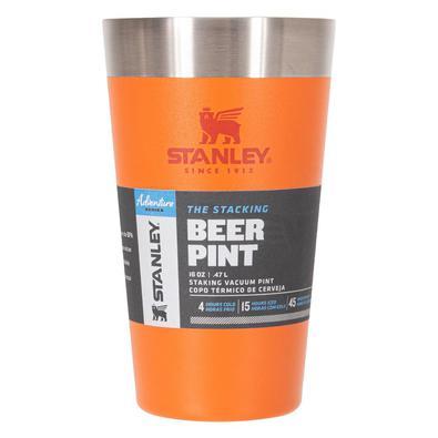 Copo Térmico De Cerveja Inox S/ Tampa Laranja 473ml Stanley