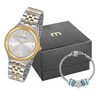 Kit Relógio Feminino Mondaine Prata E Dourado - 99510lpmvbe2k1 - Prata/dourado - Unico