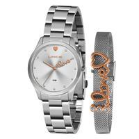 Kit Relógio Feminino Lince Analógico Prata - Lrm4668l-kz98s1s - Unico