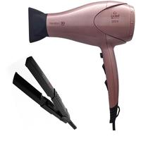 Kit gama - secador cabelo keration 3d pro 2200w 127v + chapinha mini ceramic ion 200graus biv
