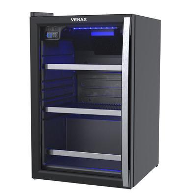 Cervejeira Venax Blue Light 100 Litros Porta Invertida Preto Fosco 110v 19919