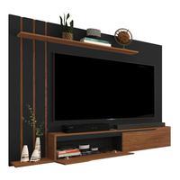 Painel Para Tv Até 60 Polegadas Classic - Preto Com Freijó - Rpm Móveis
