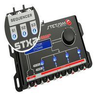 Processador Audio Automotivo Stetsom Stx-2448 4 Canais Digital Crossover Equalizador Gain Delay Phas