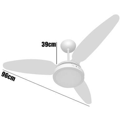 Ventilador Teto Wind Light Silent Plafon Led 18w Ponente 127v
