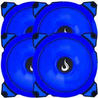 Kit Com 4 Cooler -  Fan Rise Mode Galaxy G1 - Led 120mm Azul